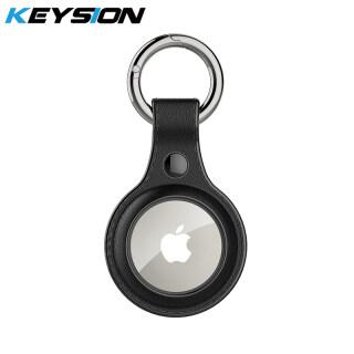 Hộp Đựng Móc Chìa Khóa Vỏ Bảo Vệ Móc Khóa Bằng Da Kết Cấu Silicone Cho Apple Airtag, Cho AirTag Bluetooth Vị Trí Tracker thumbnail