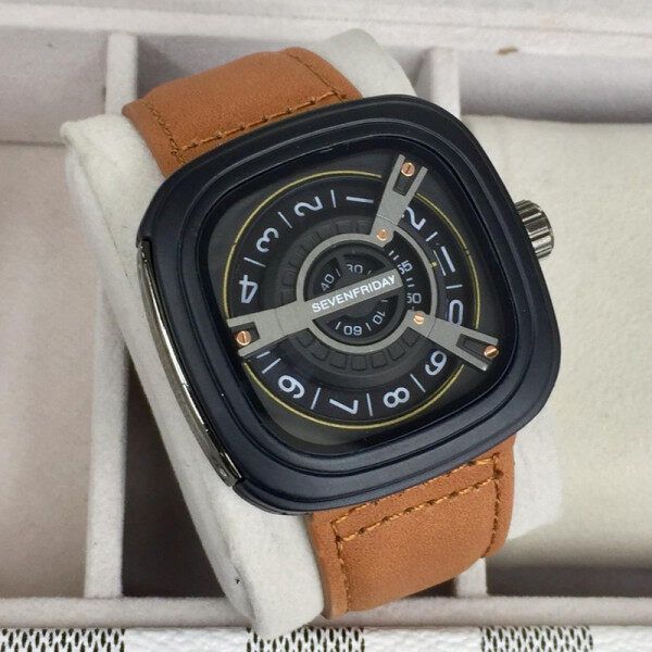 Seven_Friday_Quartz Movement Fashion/Casual Watch for Men/Women Good Quality Leather Strap & Dial Batter Then Picture Come With Special Gift Box Malaysia