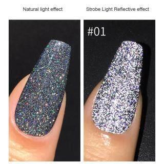 Kim Cương Lấp Lánh Phản Quang Thảo Mộc Móng Tay Nghệ Thuật Gel UV, Gel UV Ngâm thumbnail