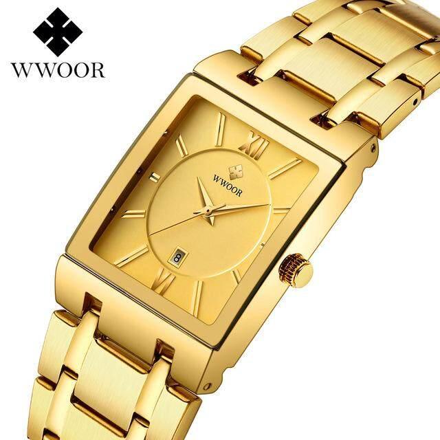 WWOOR Mens Watch Luxury Brand Quartz All-steel Waterproof Clock Fashion Sports Business Military Mens Watch relogio masculino Malaysia