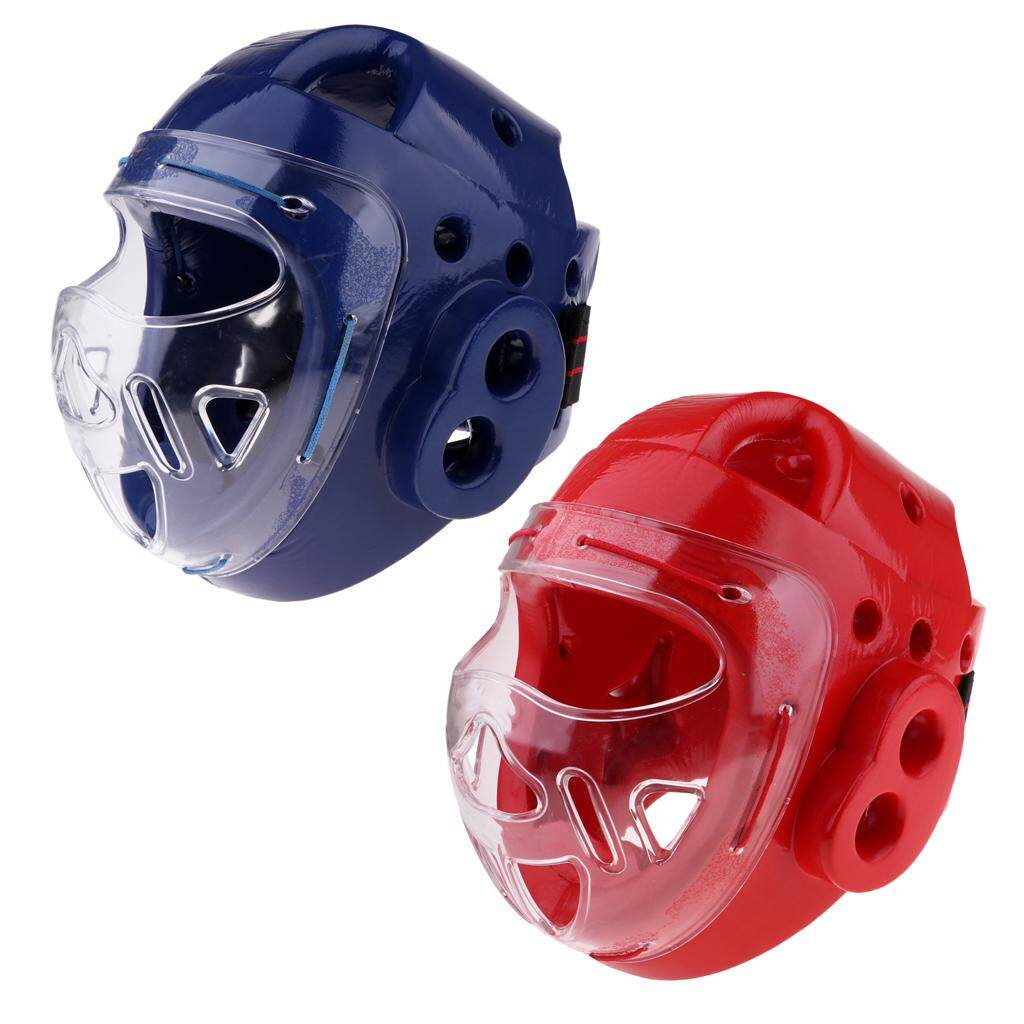 2pc MMA Head Guard Kickboxing Headgear Martial Art Sparring Helmet Protector