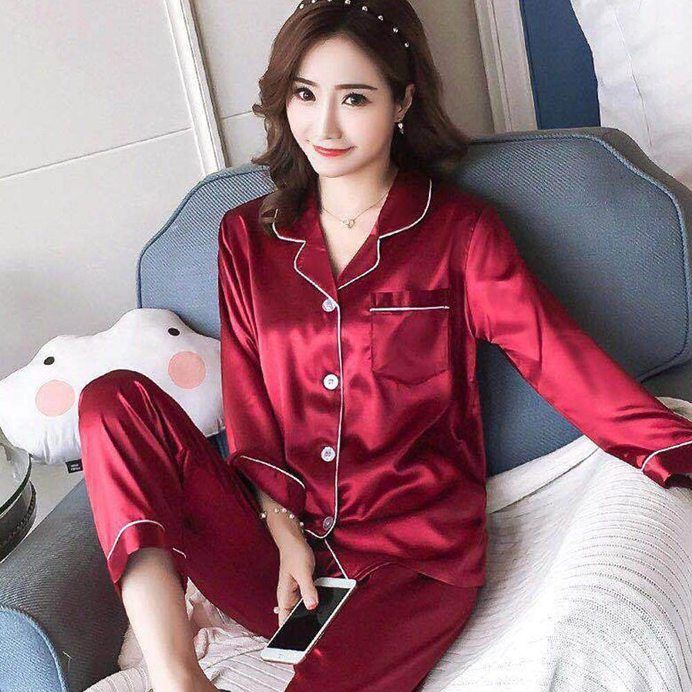 Pajamas Set Sleepwear Comfortable Two-Piece Suit M-2XL Night Fashion e01d1bb6f