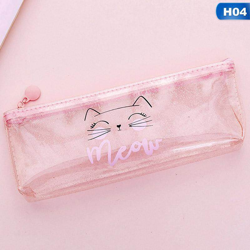 Clear Exam Pencil Case Quality Strong Coloured Zips Back to School Stationery
