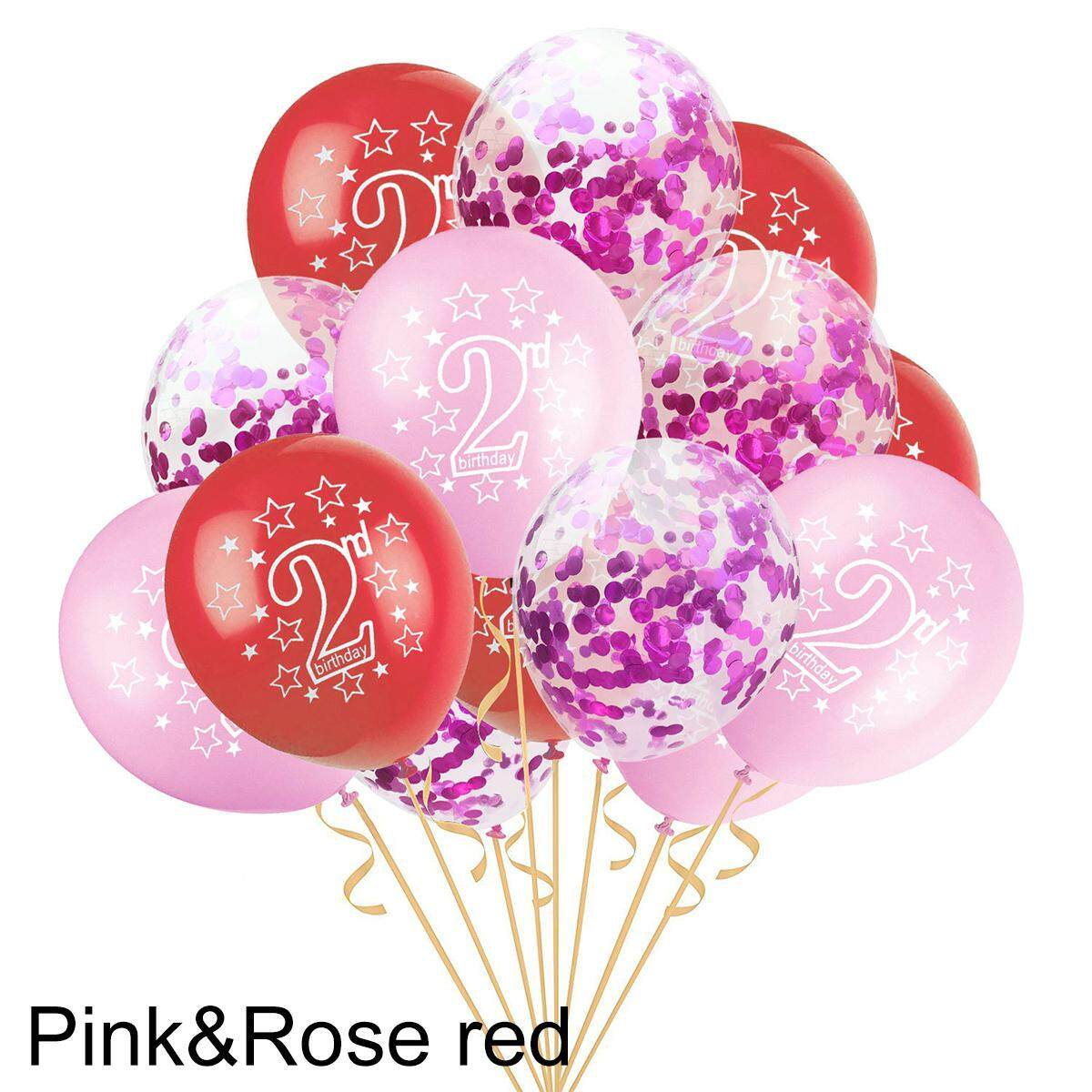 """10pcs Boys Girls 1st//2nd Birthday Party 12/"""" Pearlised Latex Balloons Decorations"""