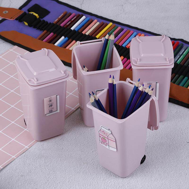 Butterfly Plastic Waste Bins Pen Holder Creative Desk Kitchen Storage Can  Brush Pot