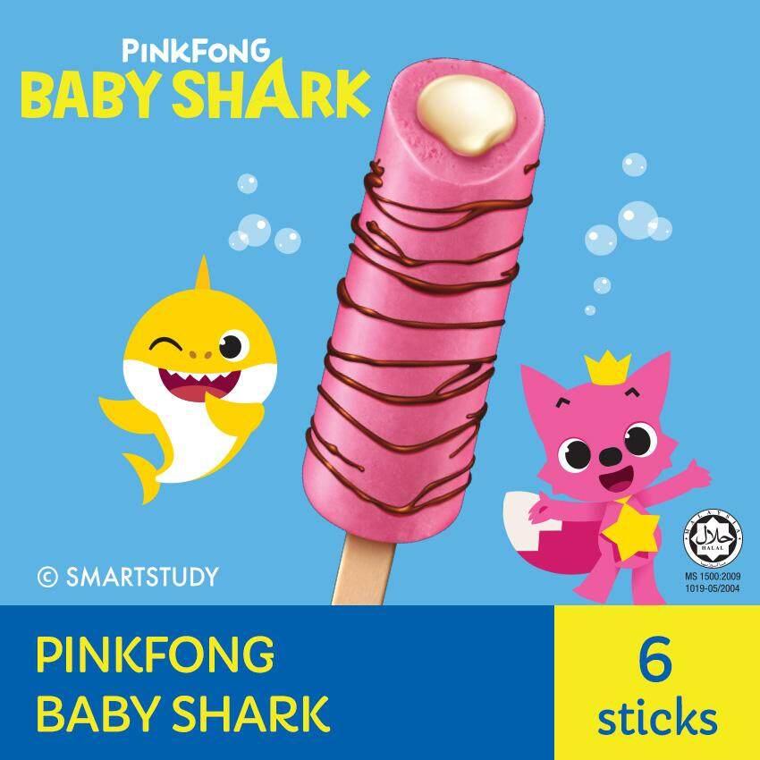 PINKFONG Baby Shark Ice Cream ( 6 Sticks, 65ml Each )