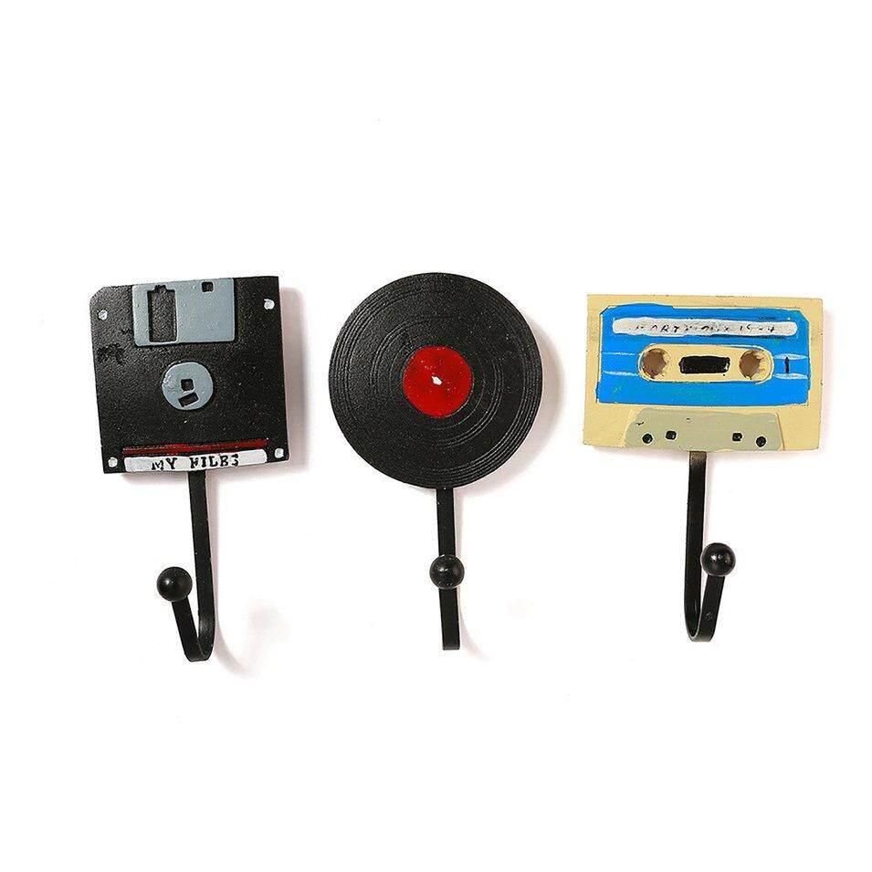 Hot Sales Home Tape Disk Record Crafts Decorations Behind Door Art Coat Hook Cloakroom
