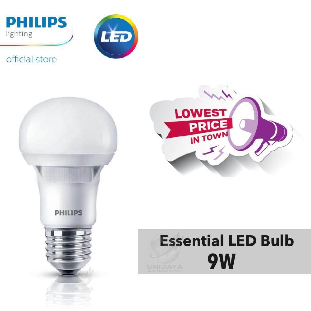 [12PCS] 1 BOX Philips Essential 9W LED Bulb E27 (Cool Daylight)