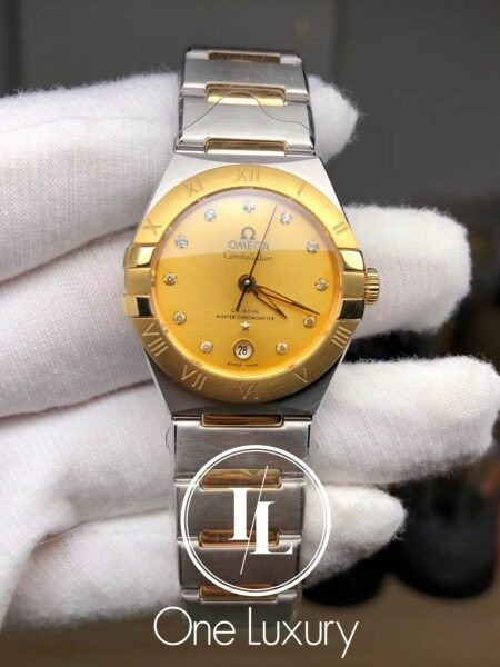 [ONE LUXURY] CONSTELLATION LADIES 29MM CHAMPAGNE DIAL 18K YELLOW GOLD Malaysia