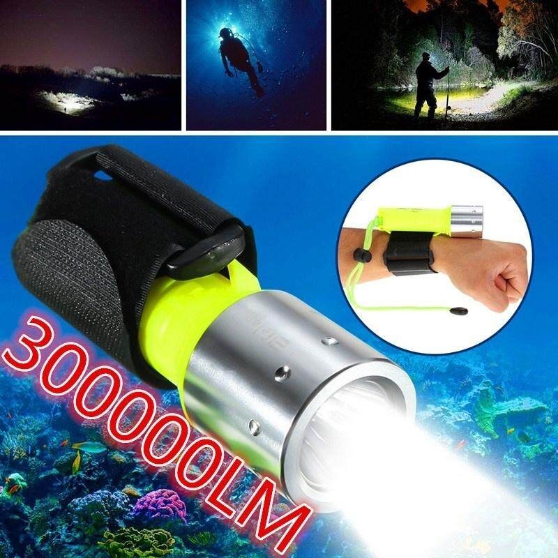 New Underwater Diving 300000lm Xm-L T6 Led Flashlight Torch Lamp 60m Waterproof Scuba Diver