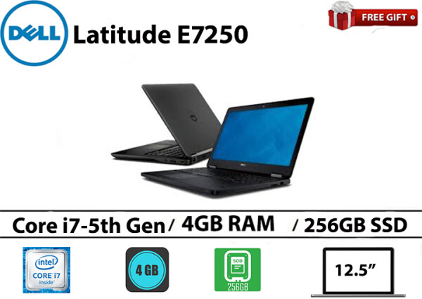 Dell latitude E7250 Core i7-5th gen 4GB RAM 256GB SSD 12.5 Inch Malaysia