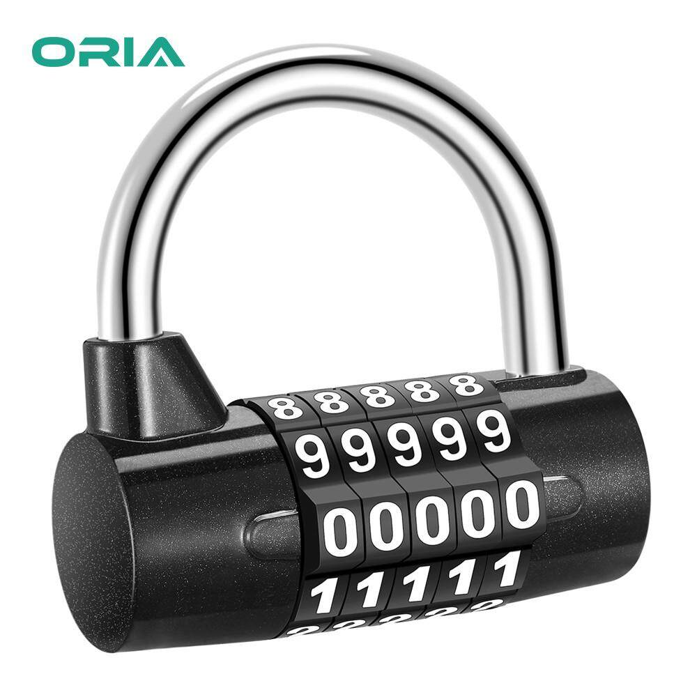ORIA 5 Digit Combination Padlock Gym Safety Lock Luggage Travel Lock for Toolbox, Closet, Closet, Gym Locker, Bicycle, Luggage, Cabinet, Outdoor