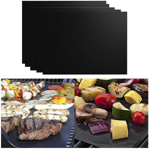 5 Cái Đảng Nhà Bếp Ngoài Trời Dã Ngoại Tái Sử Dụng Chịu Nhiệt BBQ Phụ Kiện Sợi Thủy Tinh Nấu Ăn Dễ Dàng Làm Sạch Không Dính Baking Grill Mat