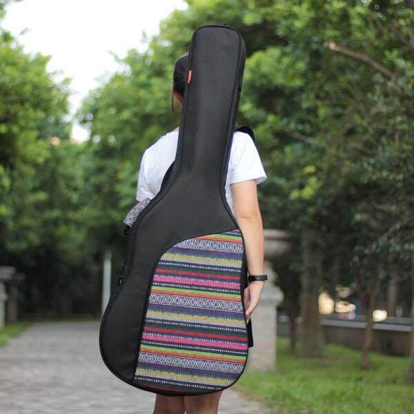 40 / 41 Inch Nối Phong Cách Dân Gian Dệt Kim Guitar Acoustic Bao Đựng Đàn Ba Lô Chống Nước