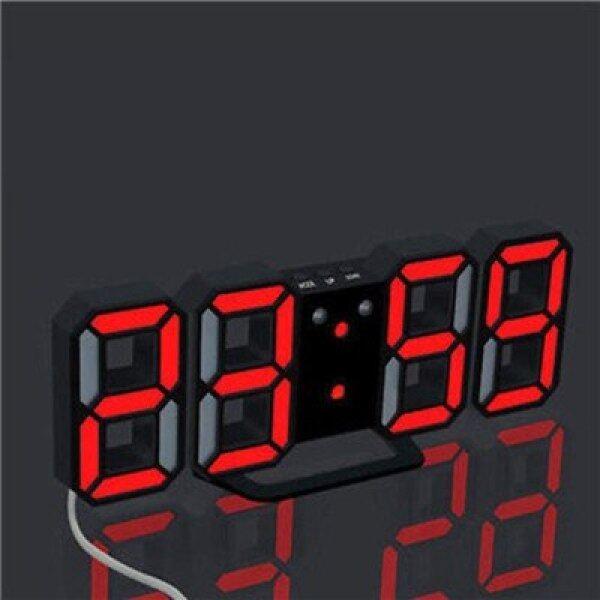 Đồng Hồ Treo Tường Kỹ Thuật Số LED 3D 24/12 Giờ Hiển Thị Bàn Hiện Đại Bàn Đêm Sạc USB Đồng Hồ Báo Thức Cho Nhà Bếp Văn Phòng 2018 bán chạy