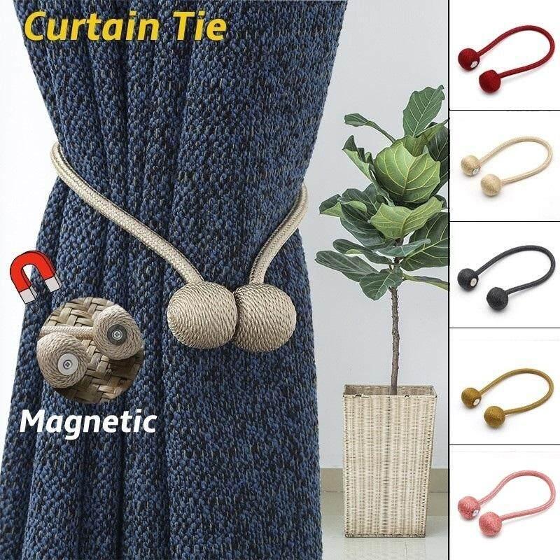 [Ready Stock] 2PCS Modern Home Decor Window Clips Curtains Buckle Magnet Buckle Curtain Cord