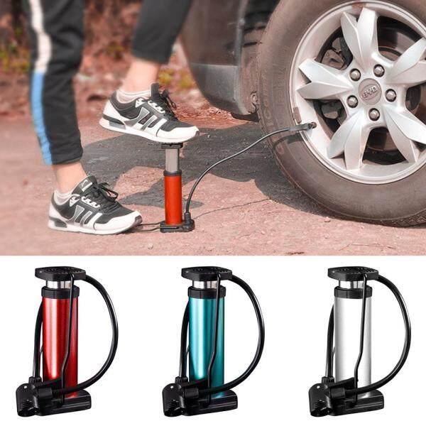 Bơm đạp chân mini 120 Psi, có đồng hồ áp suất cao, dùng xe đạp, xe máy, xe hơi, gọn nhẹ - INTL