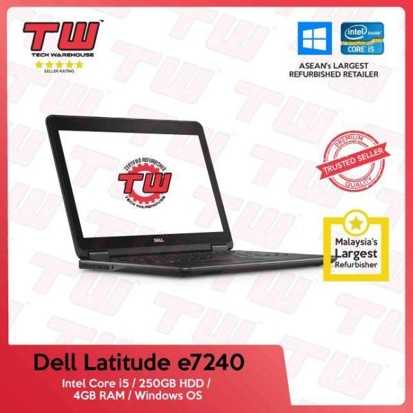 Dell Latitude E7240 Core i5 / 4GB RAM / 250GB HDD / Windows OS Laptop / 3 Months Warranty (Factory Refurbished) Malaysia