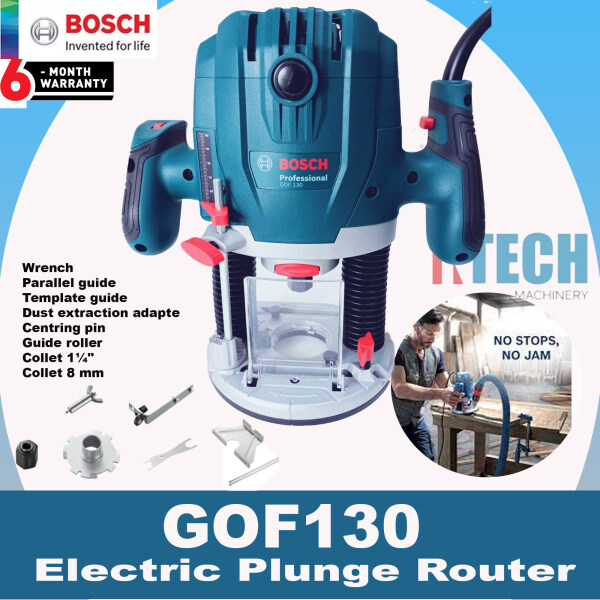 BOSCH GOF130 ELECTRIC PLUNGE ROUTER 1300W