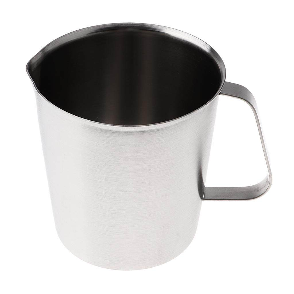 kesoto 500ml Stainless Steel Candle Making Pouring Wax Melting Pot Coffee Milk Pot