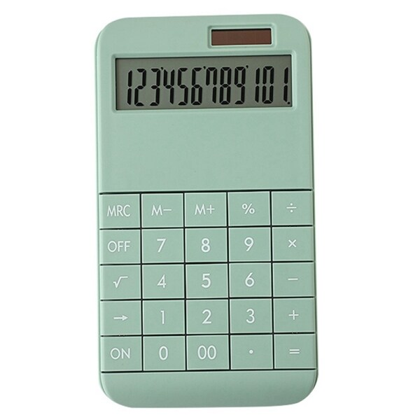 Mua Calculator Slim, Dual Powered Desktop Calculator, Solar Power Calculator , 12 Digits LCD Display