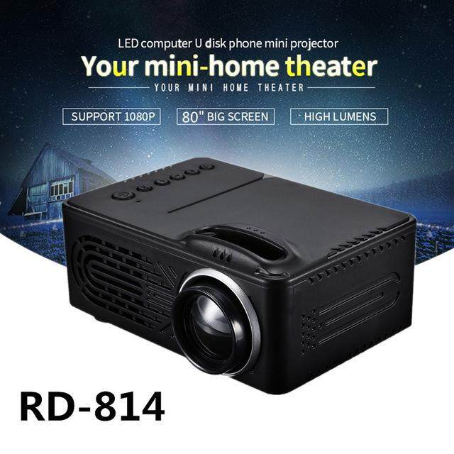 7d2d88b1b6a909 Rd - 814 1080p Portable Led Mini Projector 320 X 240 Multimedia For Photo  Music Movie