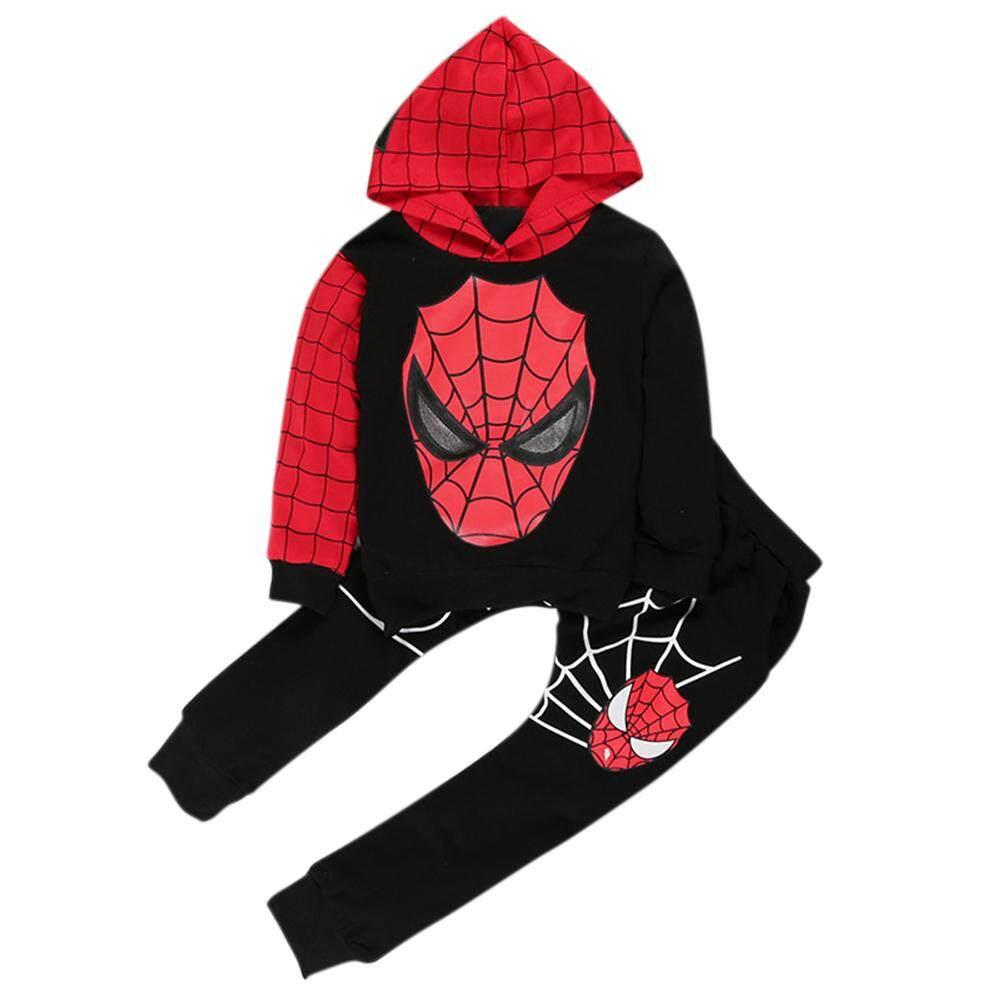 Veecome 2pcs/set Baby Boys Autumn Sports Suit Cartoon Tops + Pants Suit