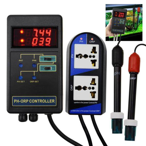 PHC-244  Gain Express 2 in 1 Digital pH and ORP Controller Water Quality Tester for Aquarium Hydroponics   with Separate Relays Repleaceable Electrode BNC Type Probe - Intl