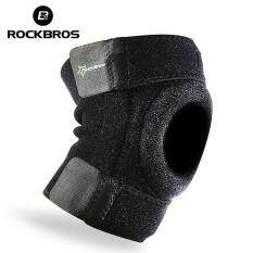 ROCKBROS Professional Running Knee Support Sports Safety Cycling Leg Elastic Kneepad Basketball Knee Pads Adjustable Elastic Bicycle Hiking Yoga Accessories