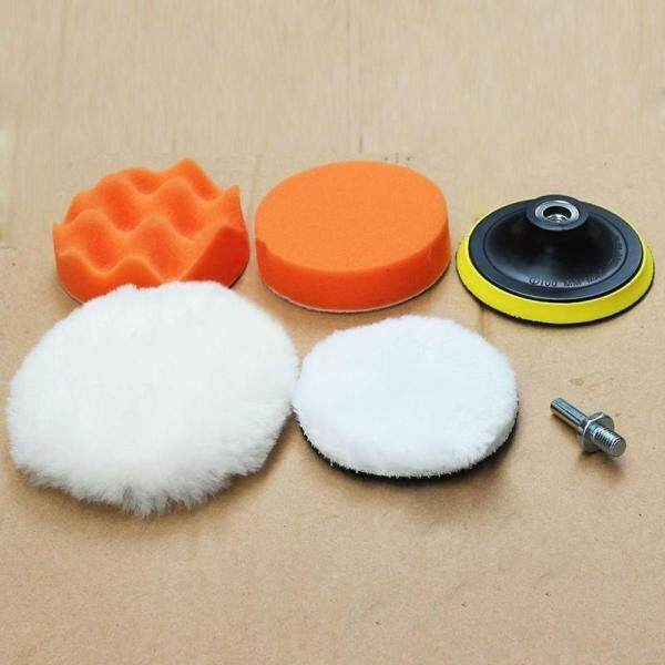 Tool Nest 5Pcs/Set 125mm Car Polisher Polishing Pad Wheel Kit Backing Plate Shank Adapter for Drill Grinding Machine Polisher
