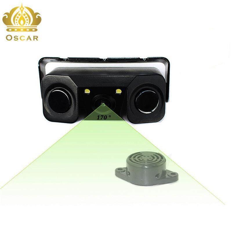Car Video Parking Rear View Camera 2 Sensors Alarm Auto Reverse Backup Radar
