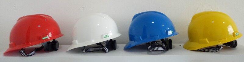 MSA Safety Helmet - V-Gard White/Yellow/Red/Blue/Green