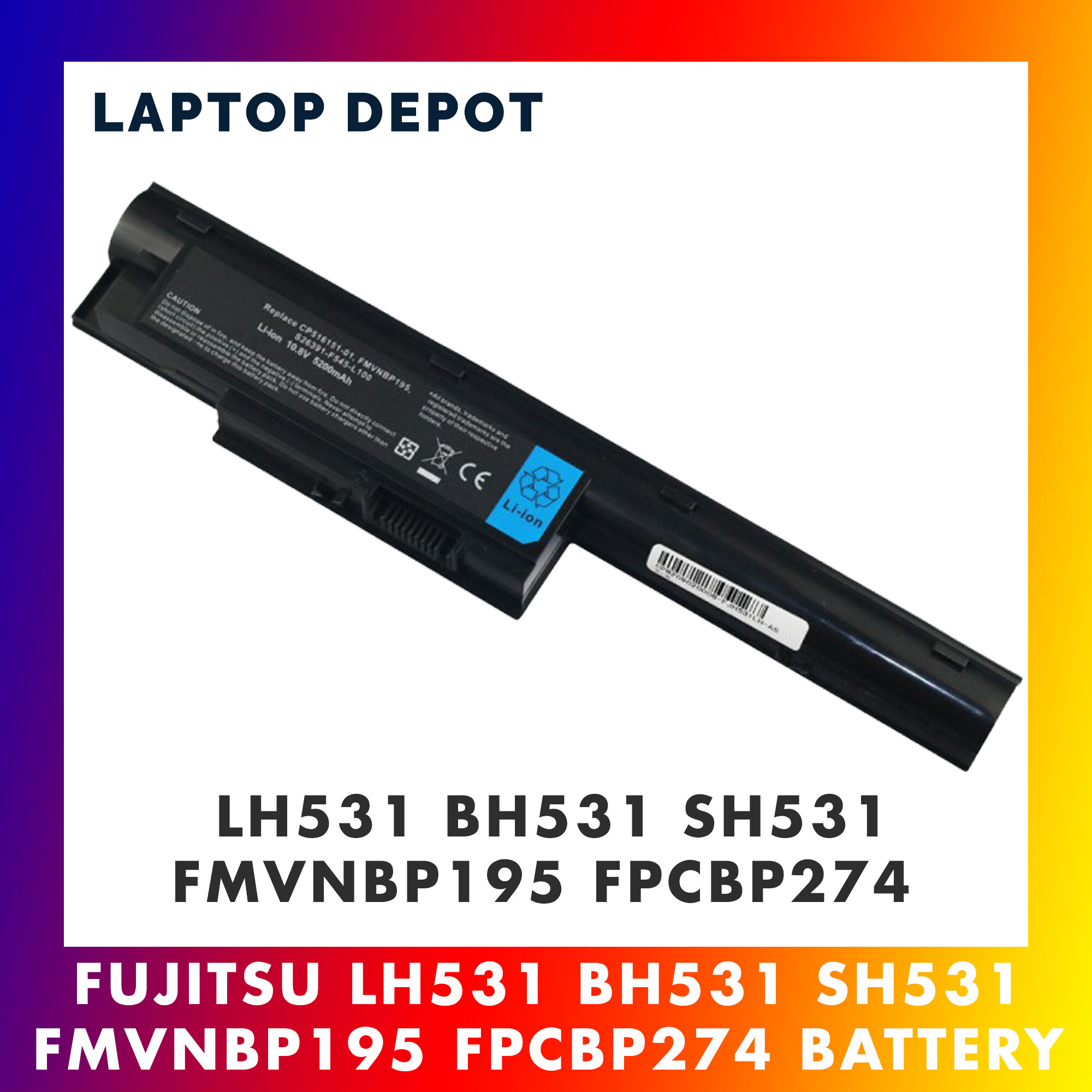 Fujitsu LH531 SH531 BH531 FMVNBP195 FPCBP274 S26391-F545-B100 Replacement Battery Malaysia