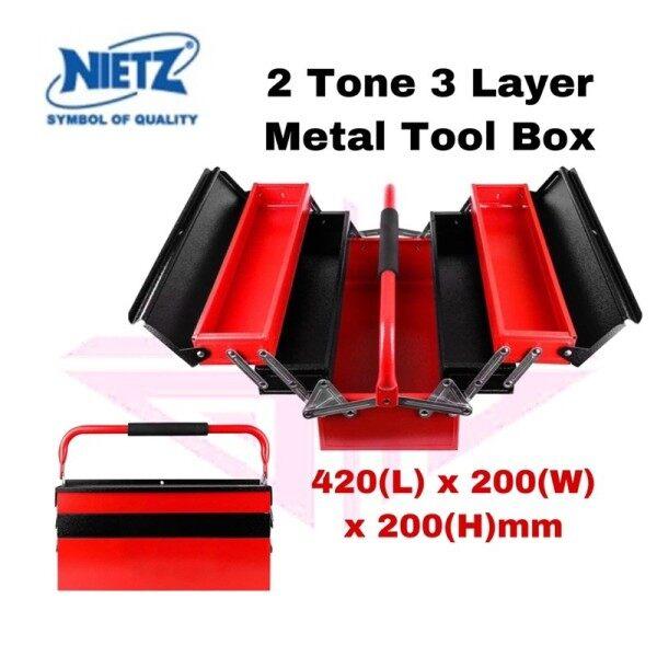 EEHIONG1977 Nietz 2 Tone Heavy Duty 3-Layer Cantilever Metal Tool Box (Red) Metal Tool Box Storage Organizer Hitto Tool Box Kotak Besi Kotak Peyimpan Alatan 重型 3层 悬臂金属工具箱 存储管理箱 工具箱