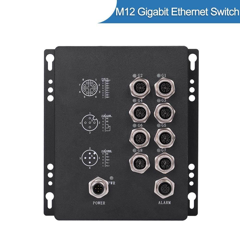 BMR508B IP67 8 Port M12 Railway Gigabit Industrial Ethernet PoE Switch