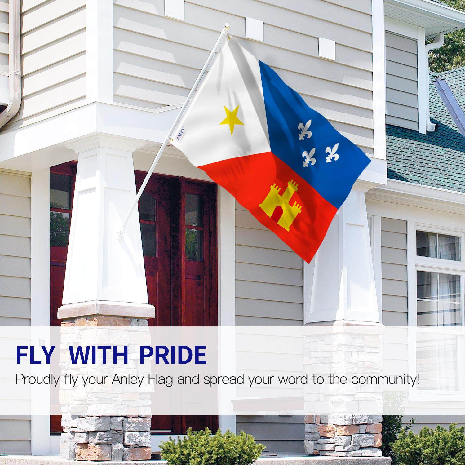 ANLEY Fly Breeze 3x5 Foot Ethnic Acadian Flag - Vivid Color and UV Fade Resistant - Canvas Header and Double Stitched - Cajun Flags Polyester with Brass Grommets 3 X 5 Ft