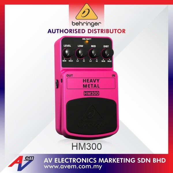 BEHRINGER HM300 Heavy Metal Distortion Effects Pedal Malaysia