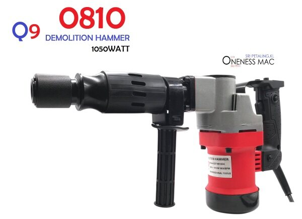 Q9 1050W 17MM DEMOLITION HAMMER (QET0810DH) WITH 2 CHISELS