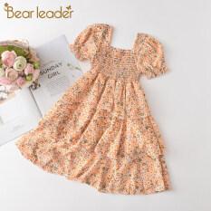 Bear Leader Công Chúa Cô Gái Ăn Mặc Cô Gái Quần Áo Trẻ Em Quần Áo Bãi Biển Mùa Hè Trẻ Em Dresses For Girls Toddler Cô Gái Voan Ăn Mặc