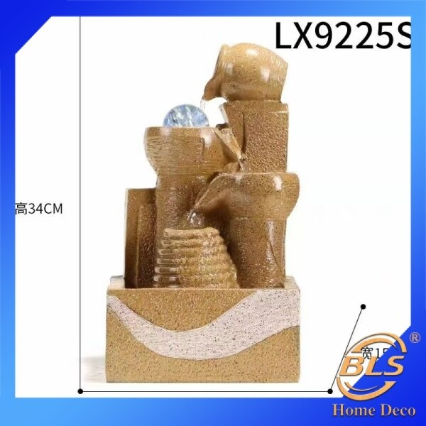 WATER FOUNTAIN LX9225S MODERN DESIGN BEIGE COLOR WATER FEATURE HOME DECORATION ORNAMENTS