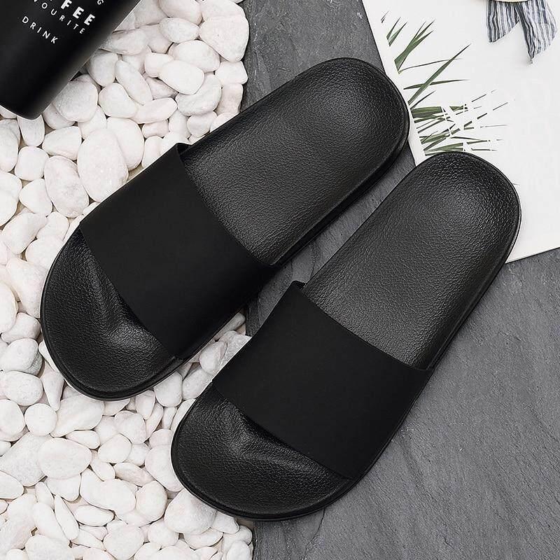 ecb9d9c8839b75 Men Slippers Home Non-slip Male Slides Man Summer Beach slippers Women  Bathroom Sandals Soft