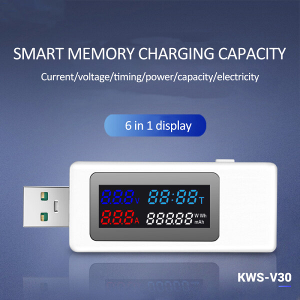 USB Power Meter Tester Power Detector Current Voltage Charger Capacity Tester Meter Current Voltage Battery Capacity Tester
