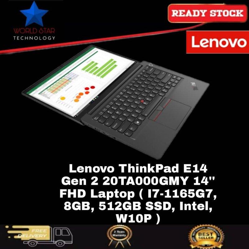 Lenovo ThinkPad E14 Gen 2 20TA000GMY 14 FHD Laptop ( I7-1165G7, 8GB, 512GB SSD, Intel, W10P ) Malaysia