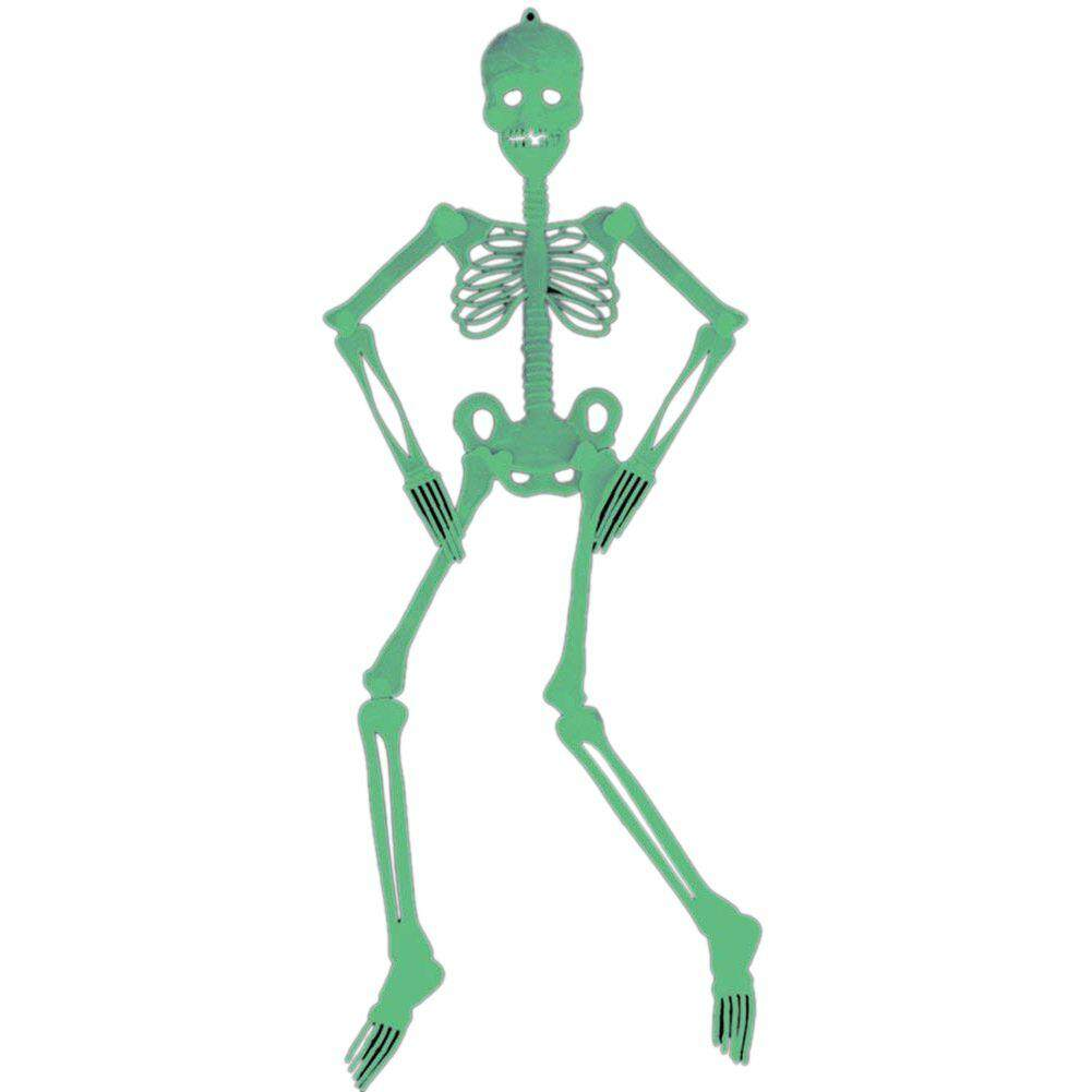90cm Halloween Hanging Skeleton Plastic Scary Party Wall Plastic Halloween Decorations Glow In The Dark By By Starnet Store.