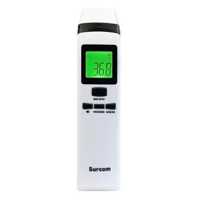 Surcom PC828 Multi-function Infrared Thermometer Fast Testing Temperature Measurement Tool (WHITE)