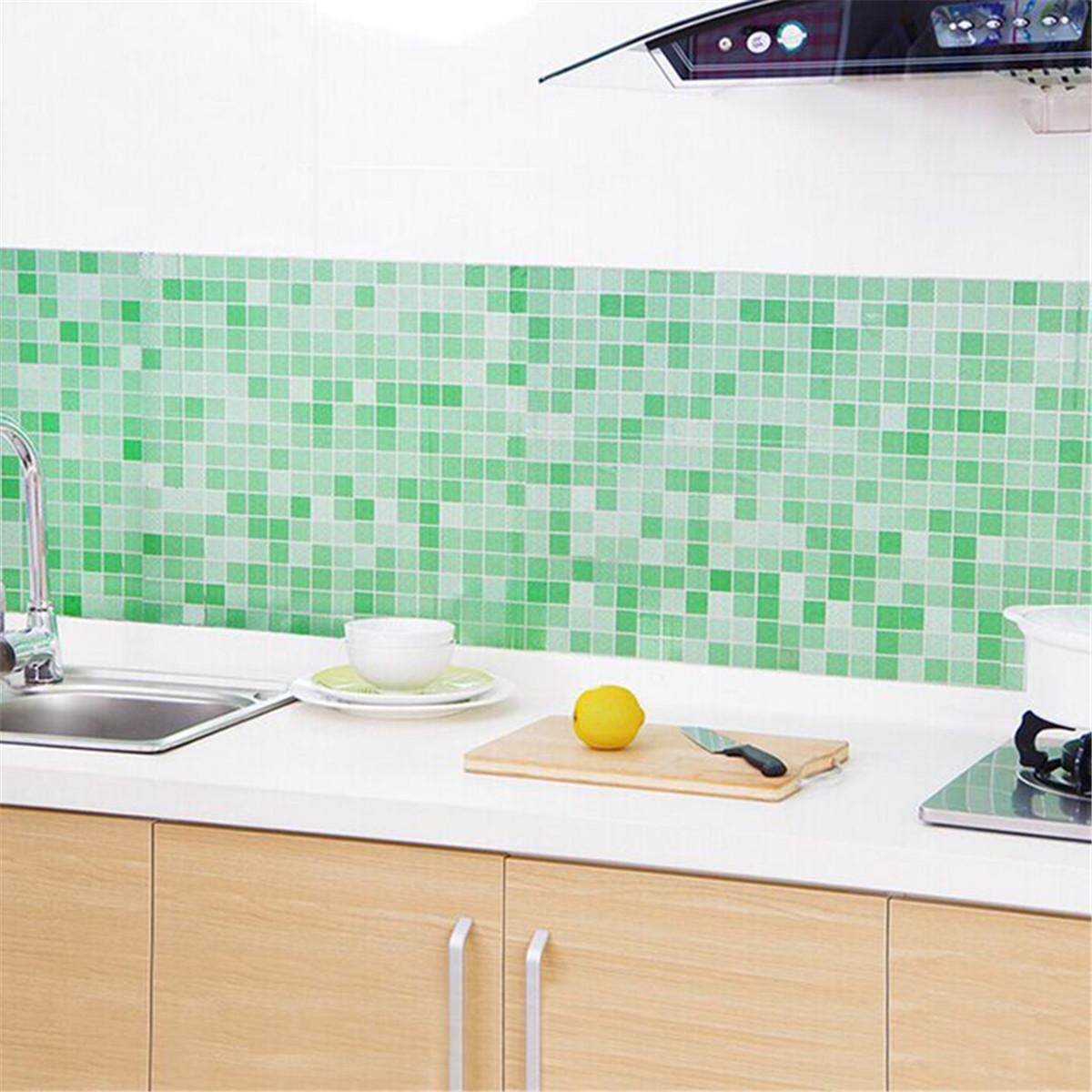 Self-Adhesive Wallpaper Wall Sticker PVC Mural Home Kitchen Decoration Gift
