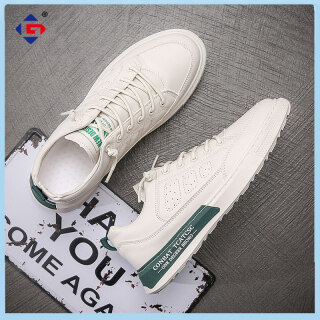 GJF Men s Shoes 2021 New Summer Breathable Mesh Sports Hollow Thin White Aviator Trendy Shoes Small White Board Shoes thumbnail