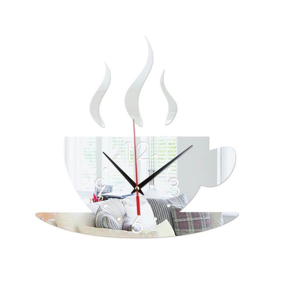 Nơi bán Bokeda Store Rời Cà Phê Acrylic 4 Màu 3D Gương Gương Đồng Hồ Treo Tường Nền Đồng Hồ Dán Tường Phòng Ngủ Dán decal Dán tường Nghệ thuật treo Tường Tự Làm cho Phòng Khách Bức Tranh Tường