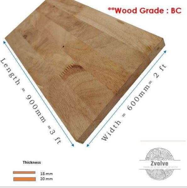 Rubber Wood Board 18mm x 60cm x 90cm (Grade BC) | Kayu Papan | Kayu Getah | Papan DIY | Papan Getah |