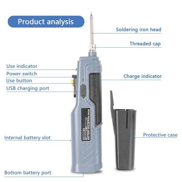 Handskit 4.5V 8W Chạy Bằng Pin Mỏ Hàn Có USB Sạc Dây Sạc Không Dây Hàn Sắt